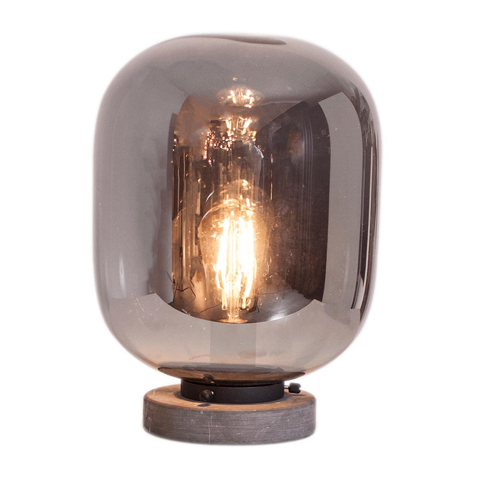 By Rydéns Leola glazen tafellamp in rookgrijs