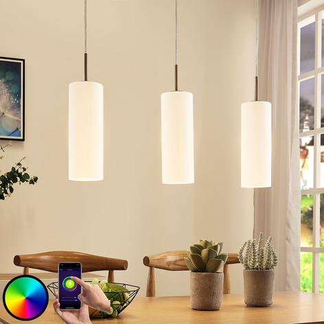 Lindby Smart lámpara colgante LED Felice con app