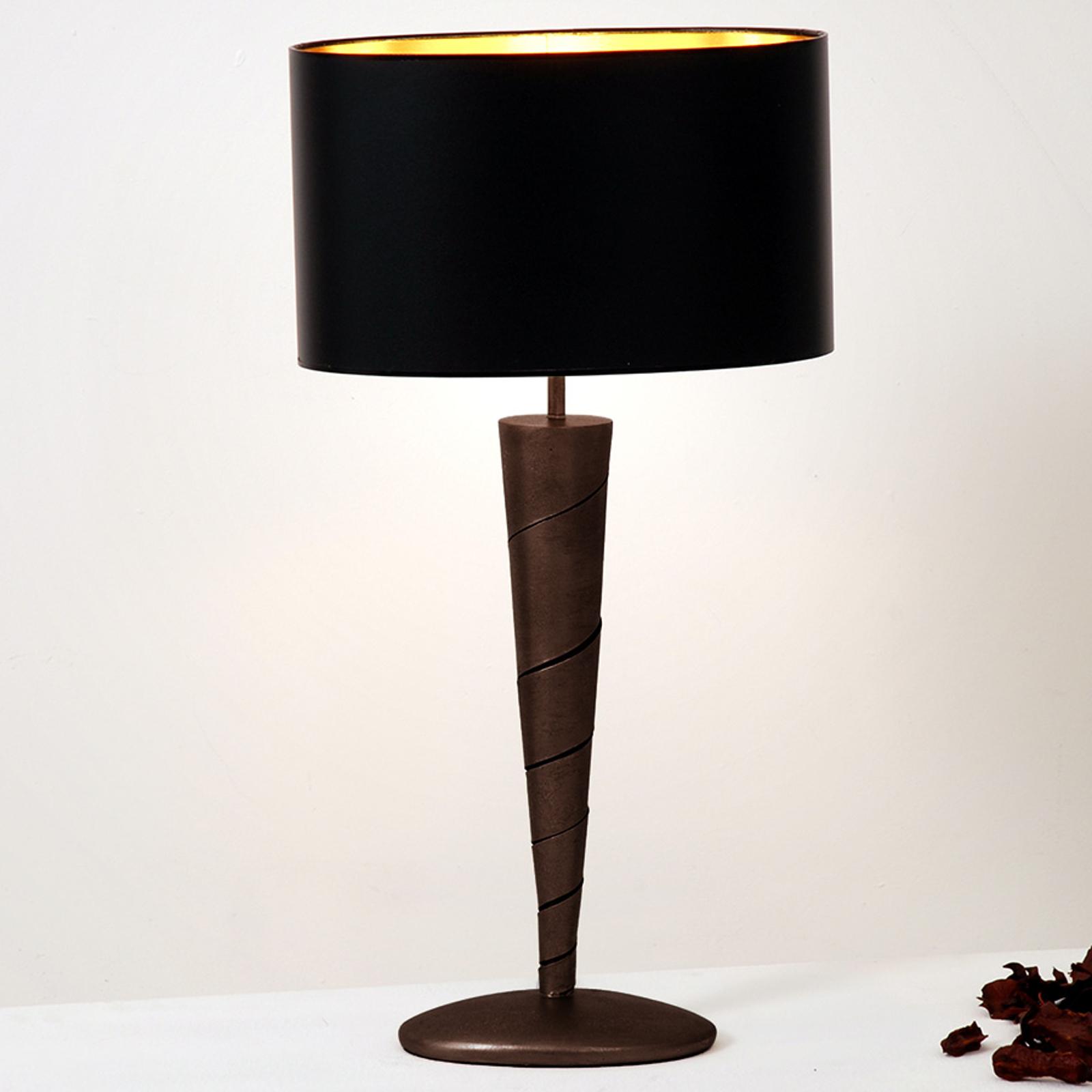Élégante lampe à poser INNOVAZIONE en fer, noir