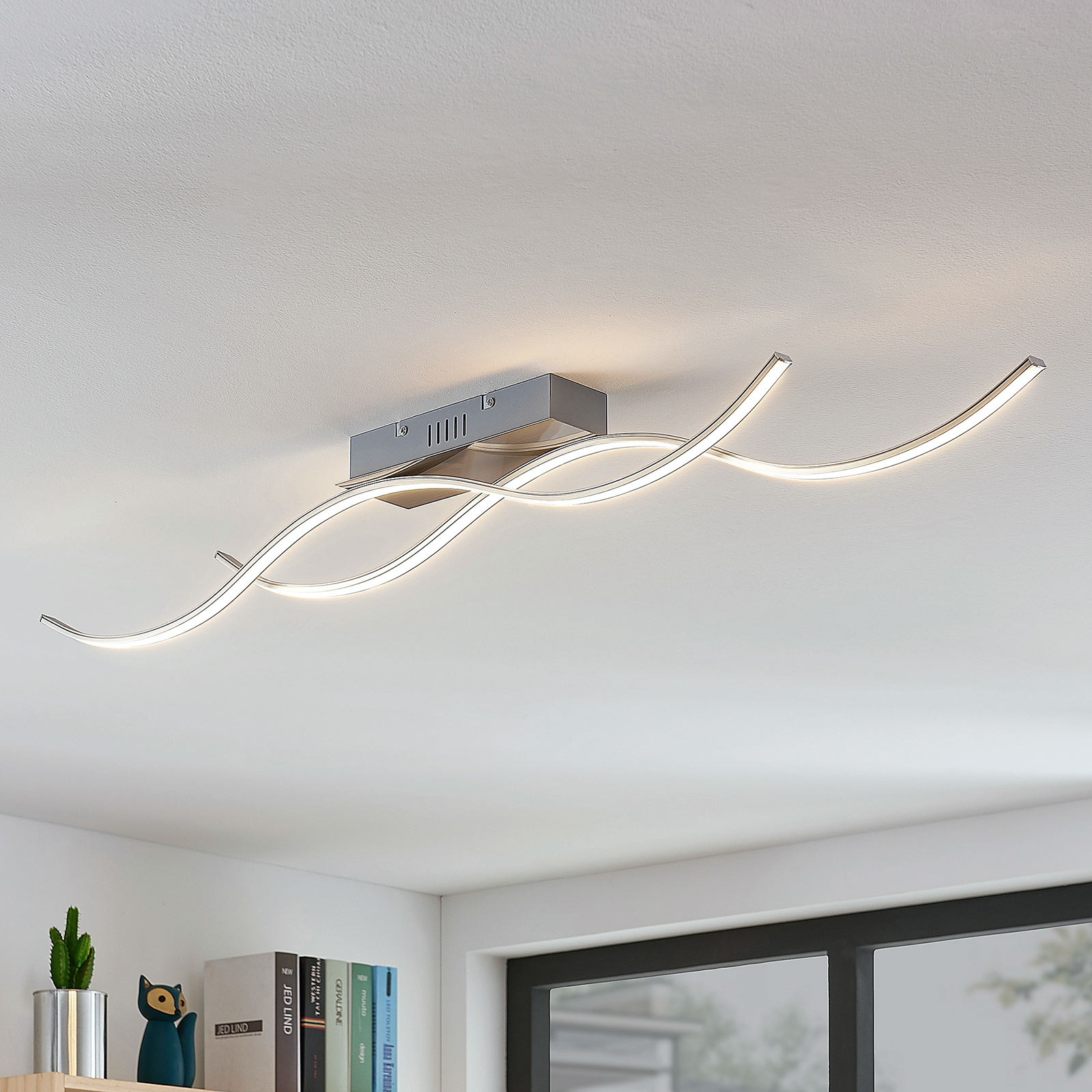 Lampa sufitowa LED Safia w formie fali, 2-punktowa