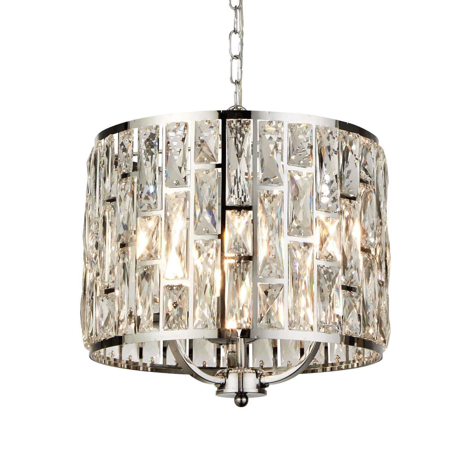 Lampa wisząca Bijou, klosz z kryształkami, Ø 38 cm
