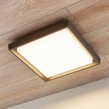 Plafonnier d'extérieur LED Birta, carré, 34cm