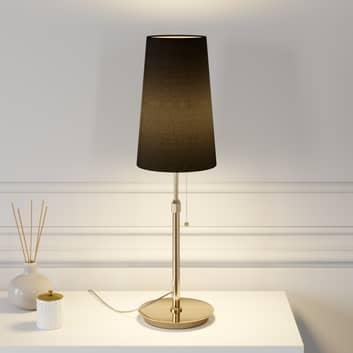 Lucande Pordis lampa stołowa, mosiężno-czarna