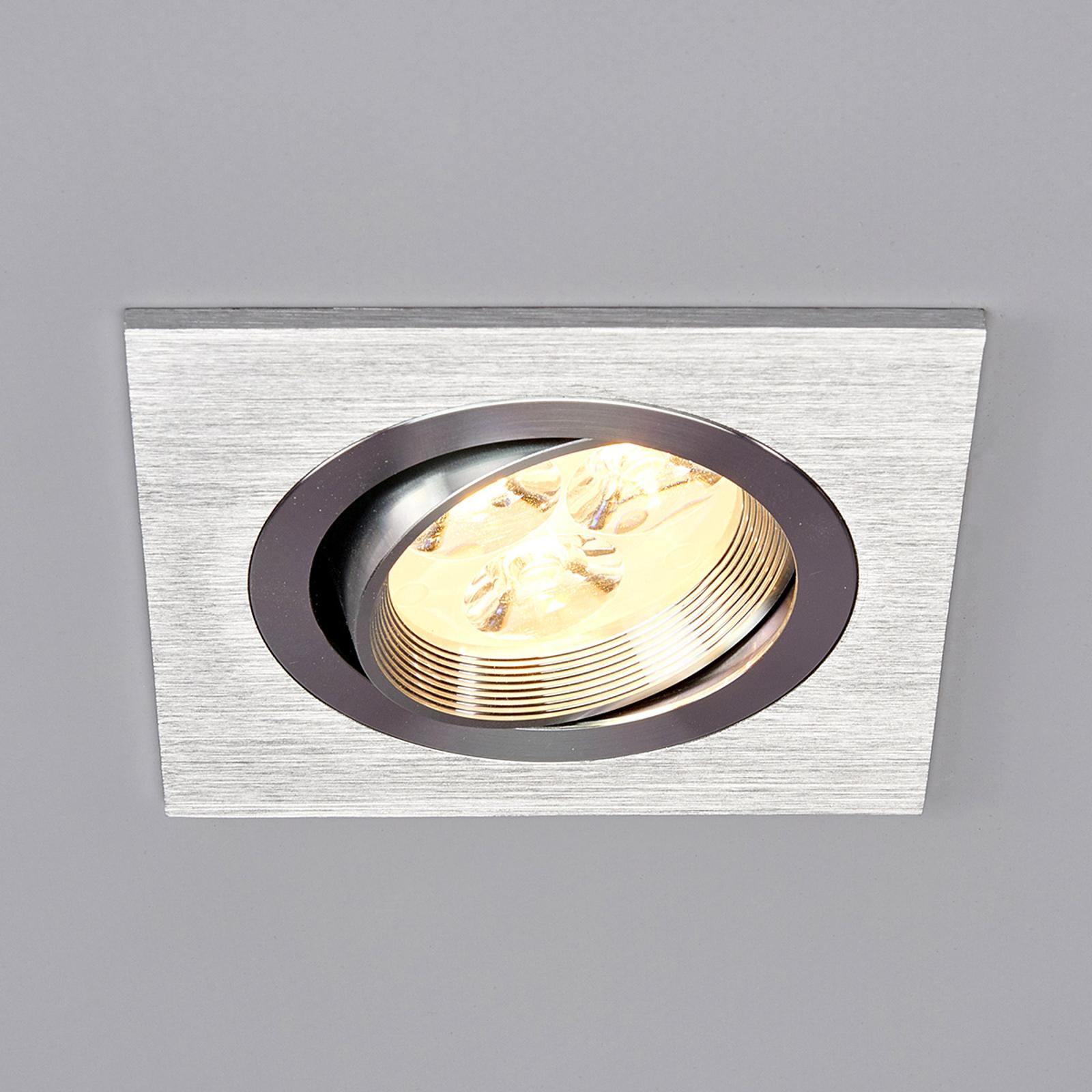 Tjark - Spot carré encastrable LED en aluminium