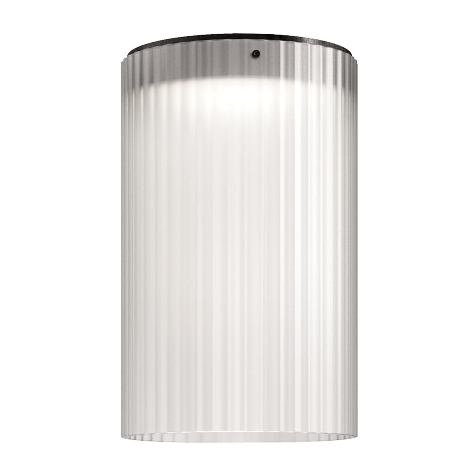 Kundalini Giass - plafonnier LED, Ø 30cm, blanc