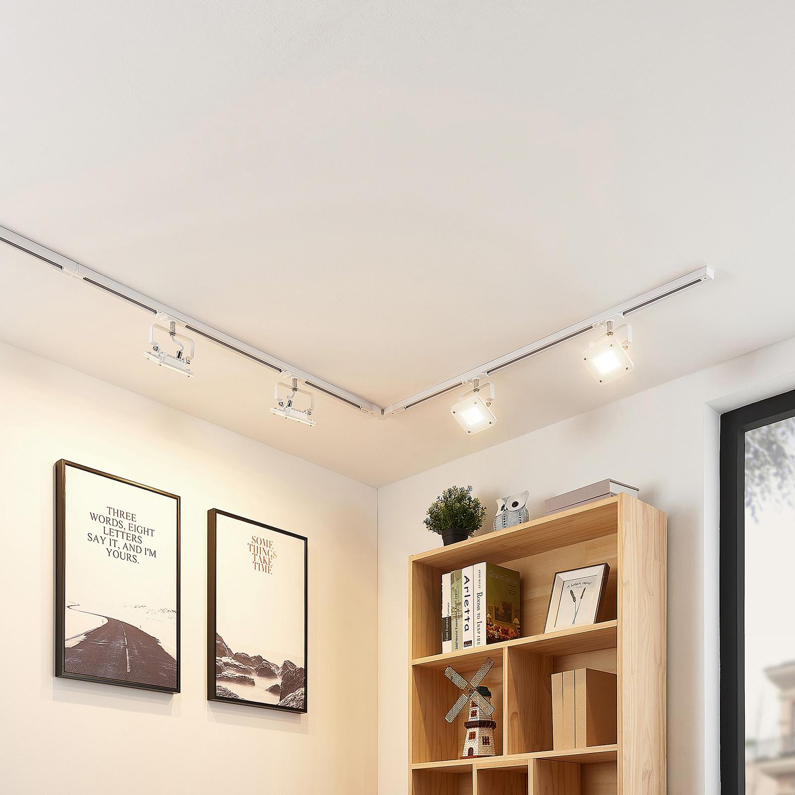 1-Phasen-LED-Schienensystem Linsey, 4-fl., weiß