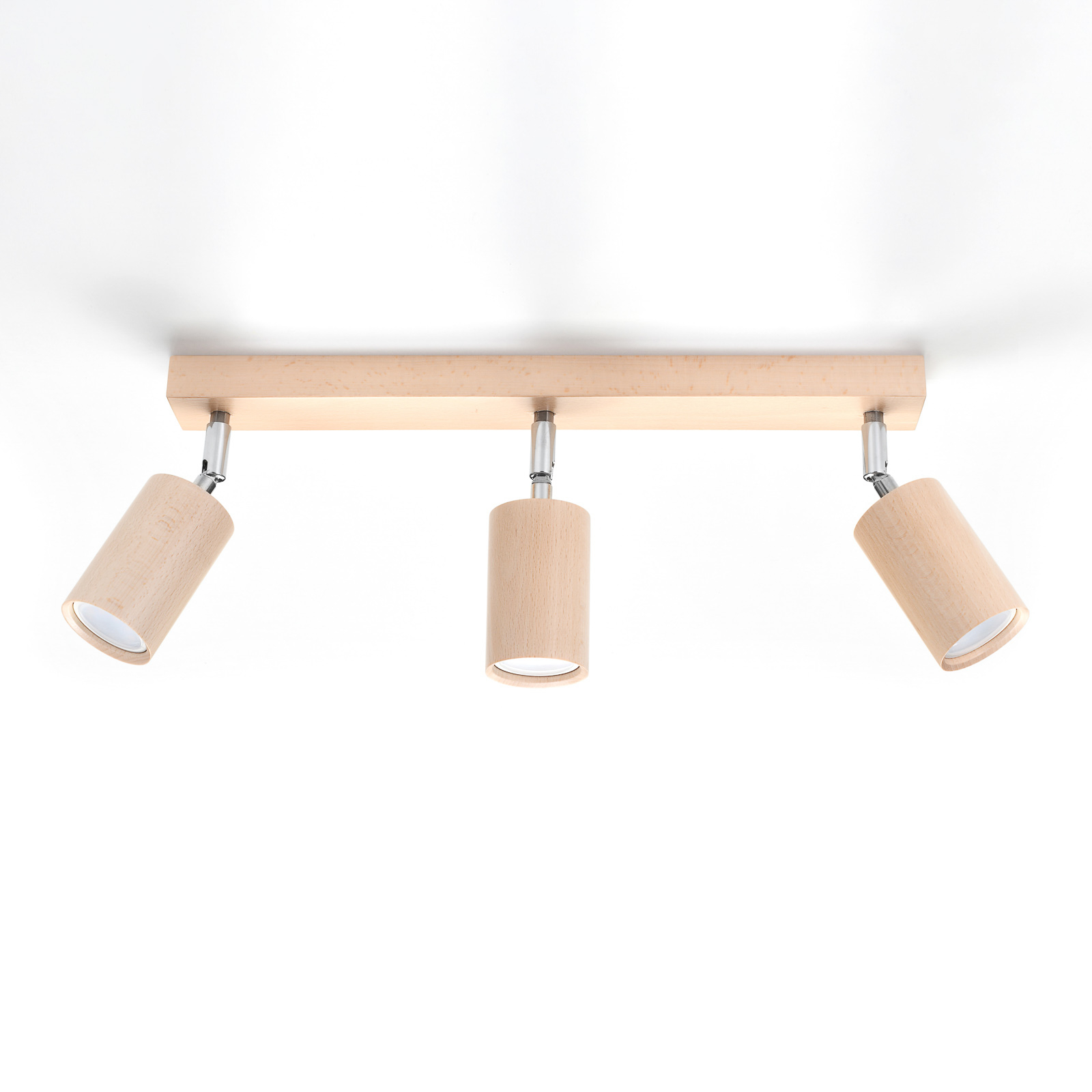 Cre loftspot af træ, 3 lyskilder