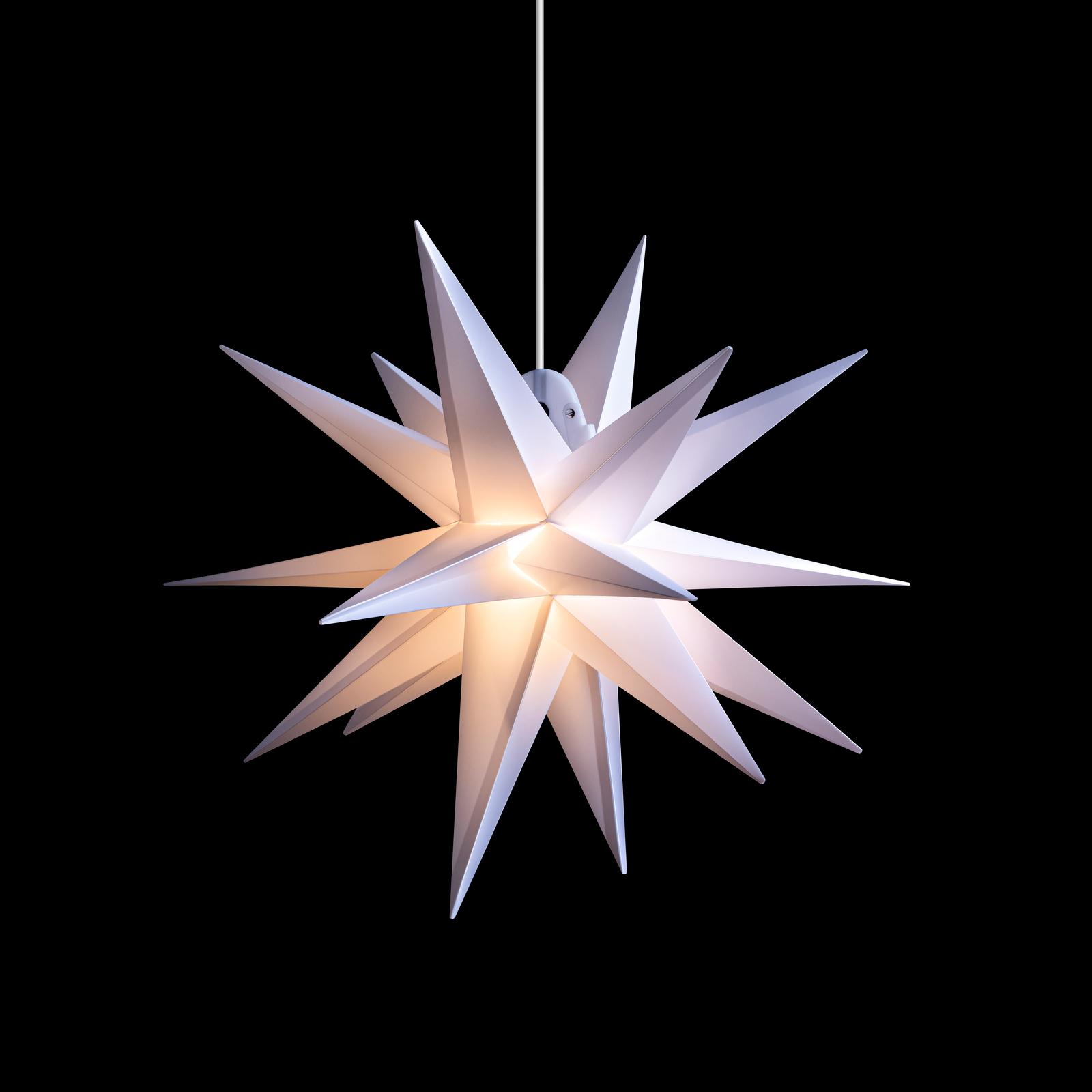Estrella LED exterior, 18 puntas, blanco, Ø 40 cm