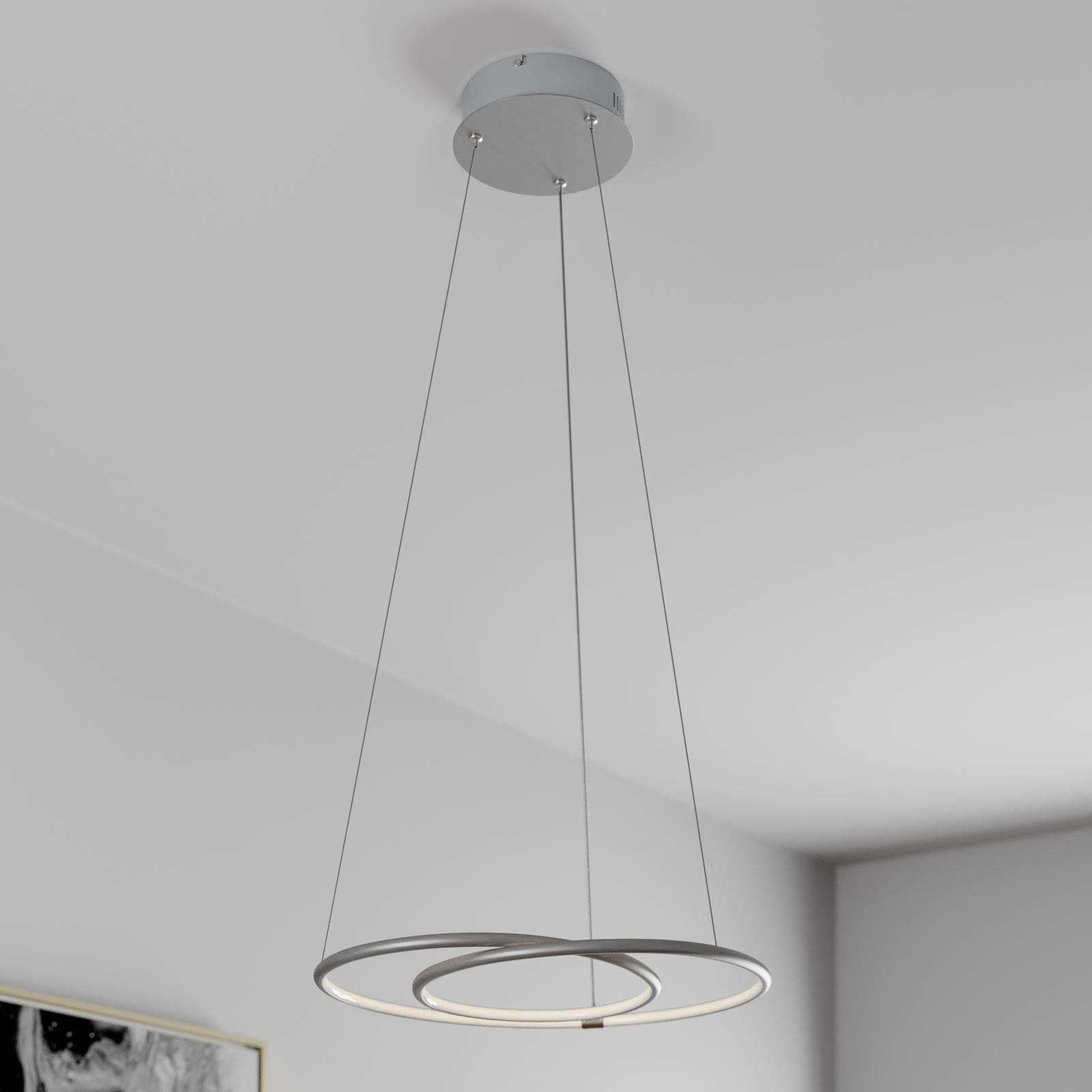 Lindby Lucy LED-hengelampe, 45 cm, aluminium