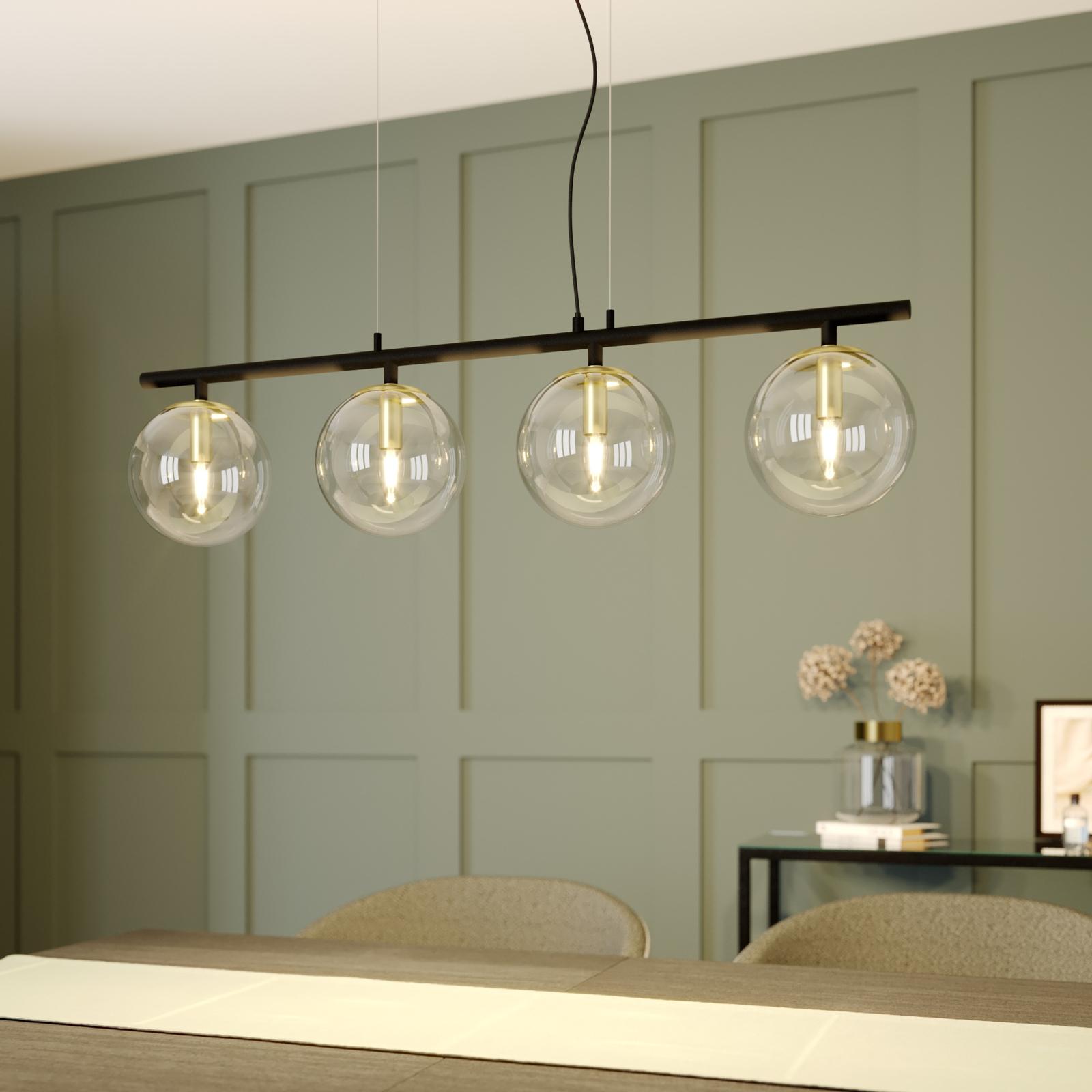 Lucande Sotiana pendellampe glaskugler 4 lyskilder