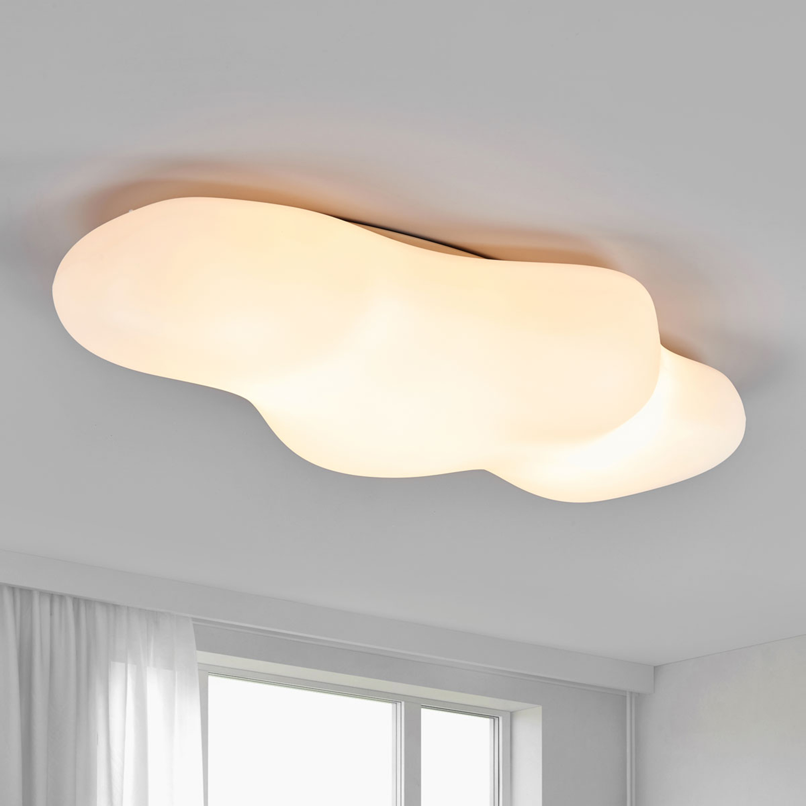 Plafondlamp Eos in wolkenvorm, 90 cm