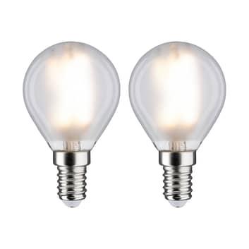 Paulmann LED goccia E14 4,5W 2.700K satinato 2x