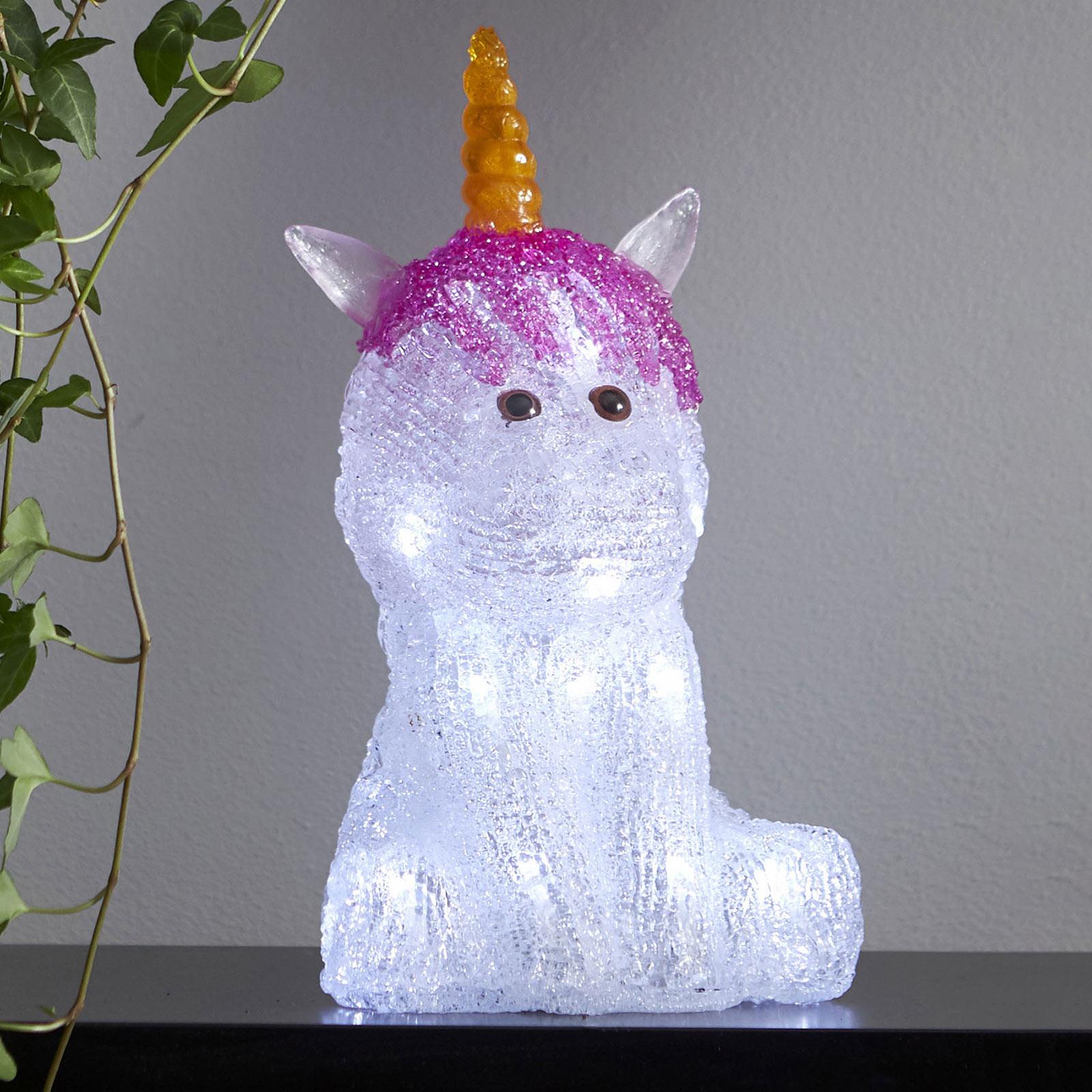 Best Season Crystaline LED dekorační světlo jednorožec baterie