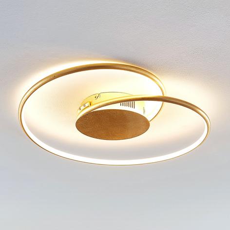 Lindby Joline plafoniera LED dorata, 45 cm