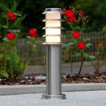 Sokkellampe Selina i rustfrit stål