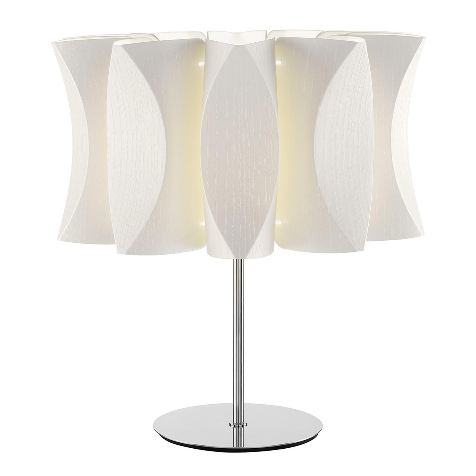 Lume Virus bordlampe, hvidt asketræ