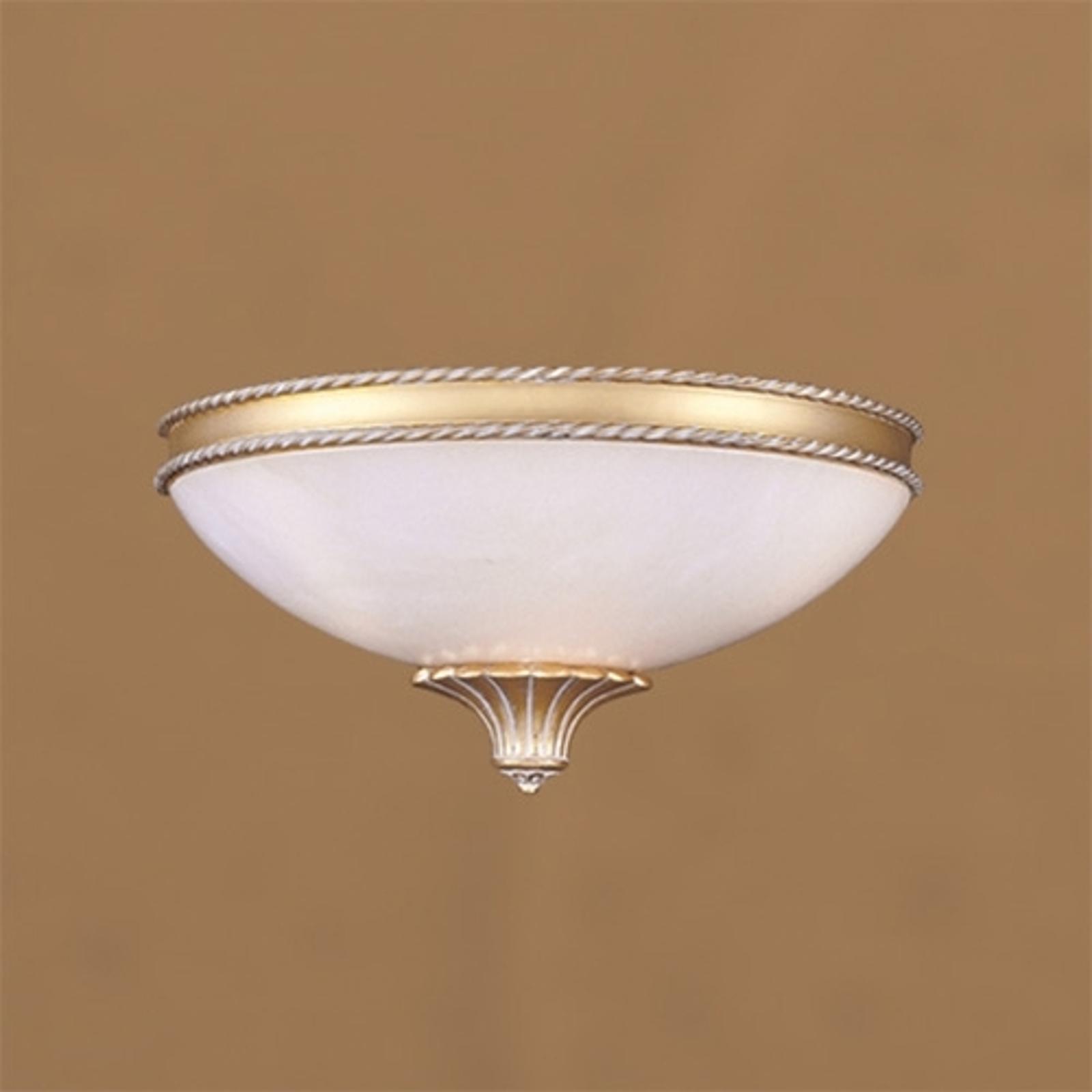 Albastkleurige wandlamp MINERVA, 18 cm