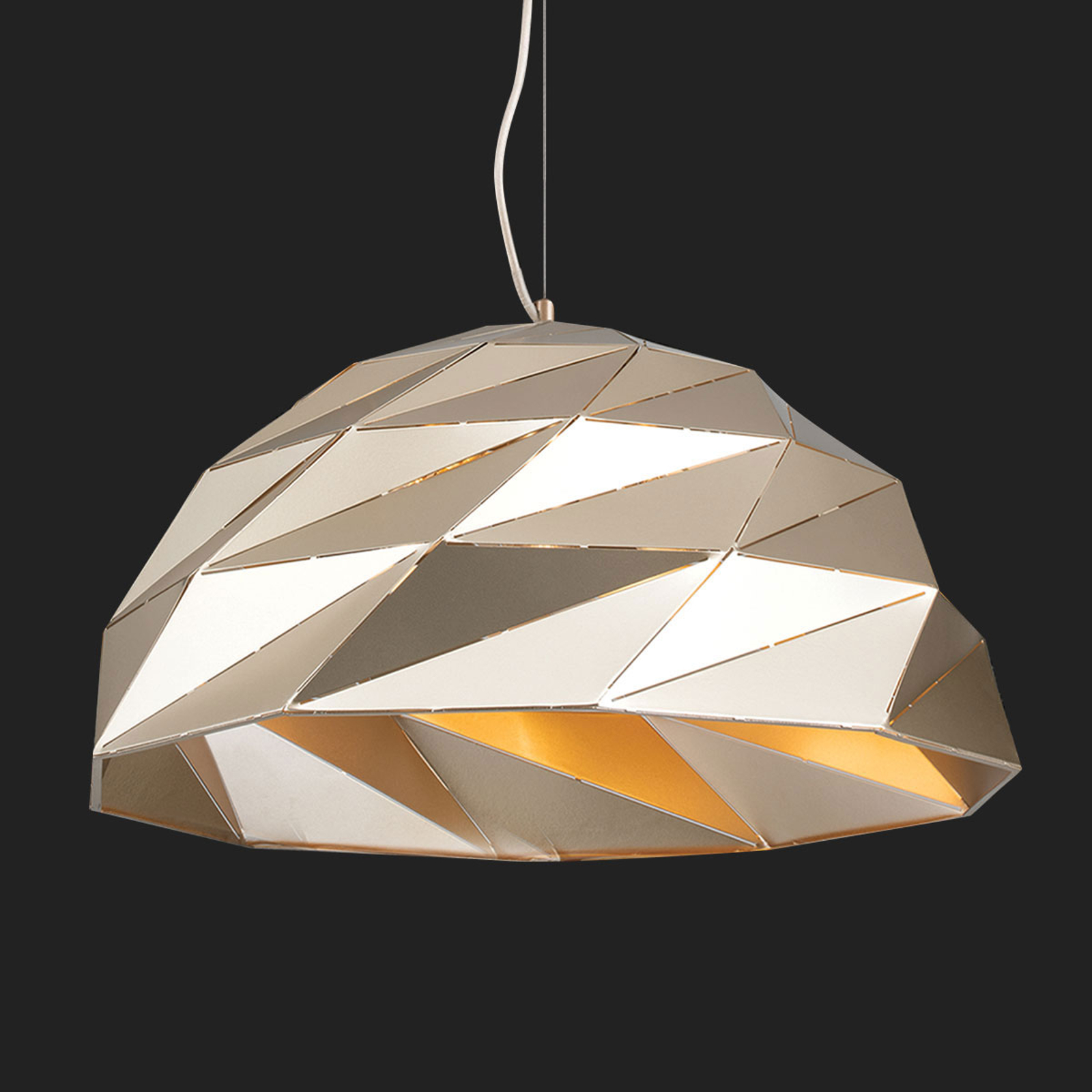 Acquista Lampada a sospensione Origami Ø 56 cm oro