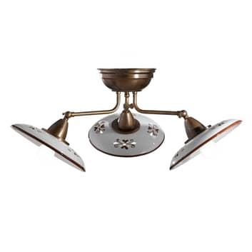 Bassano - plafón de cerámica de 3 luces