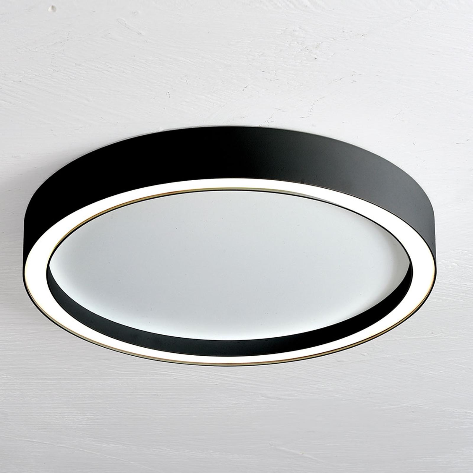 Bopp Aura LED plafondlamp Ø 30cm wit/zwart