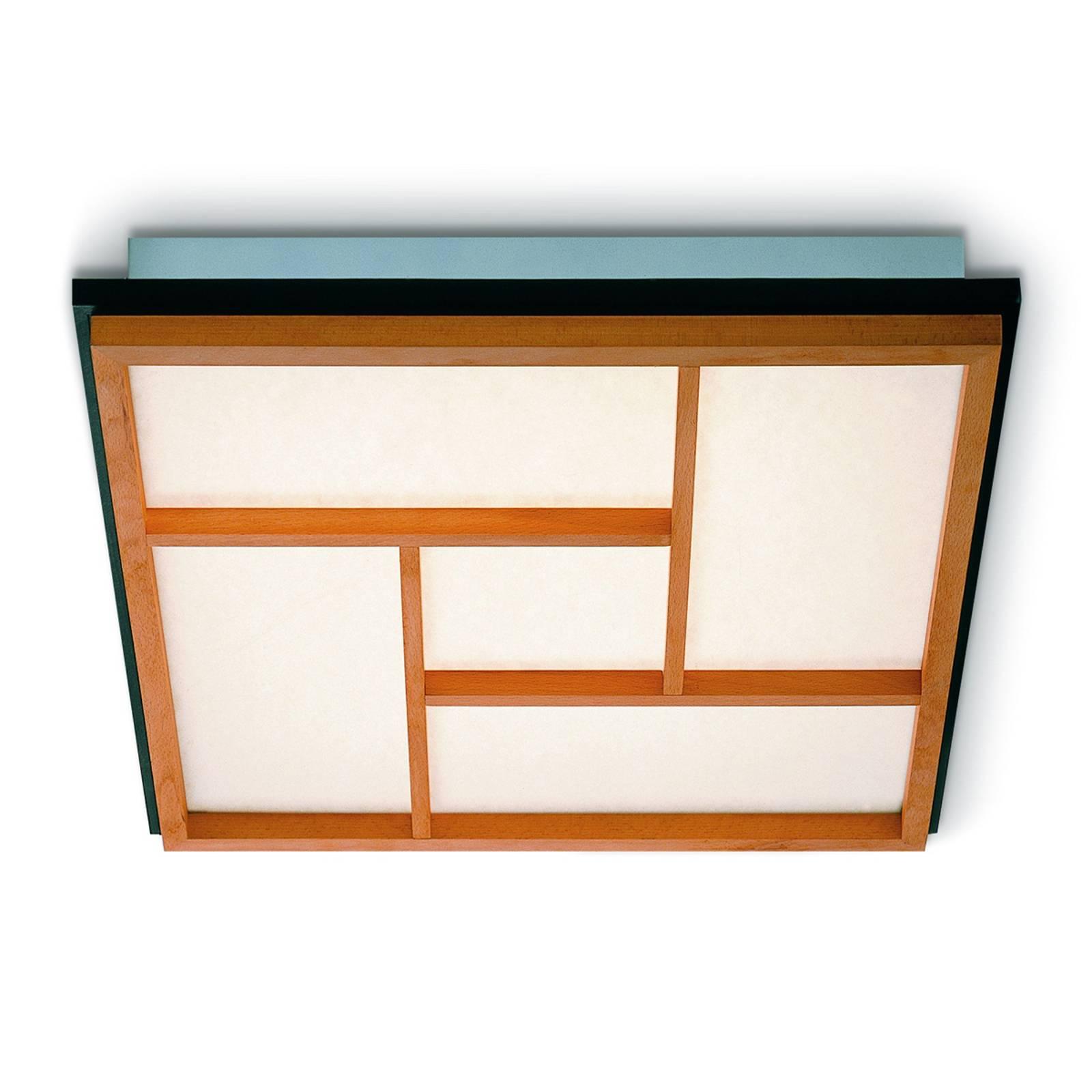 KIOTO 5 - lampa sufitowa LED z drewna bukowego