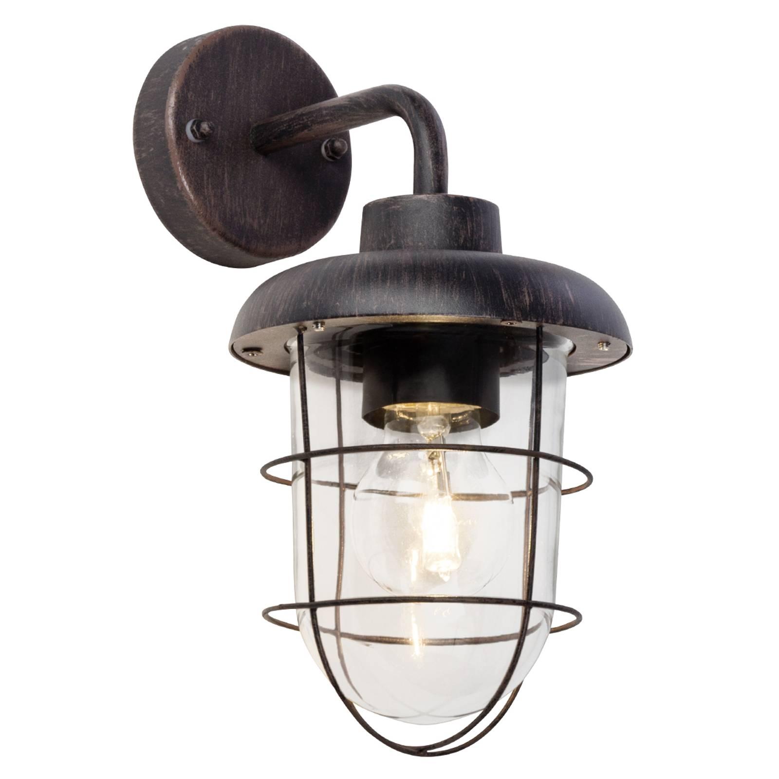 Carlisle - zwarte buitenwandlamp met frame