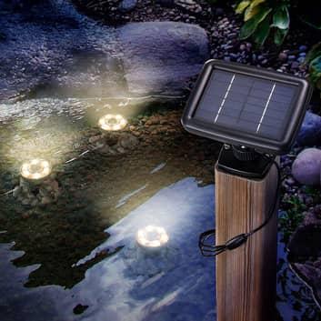 Soldreven LED-undervannsspot Splash 3-pkn.