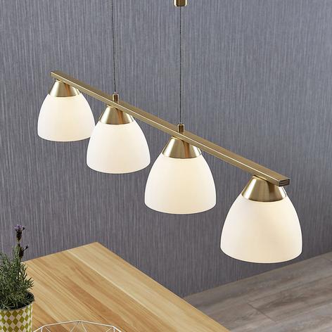 LED závěsné světlo Cersei v matné mosazi