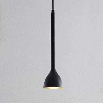 Lámpara colgante Nordwin, 1 luces, negro-dorado