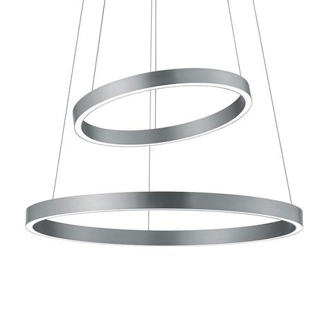 LED sospensione Lora-P nichel satinato, gestuale