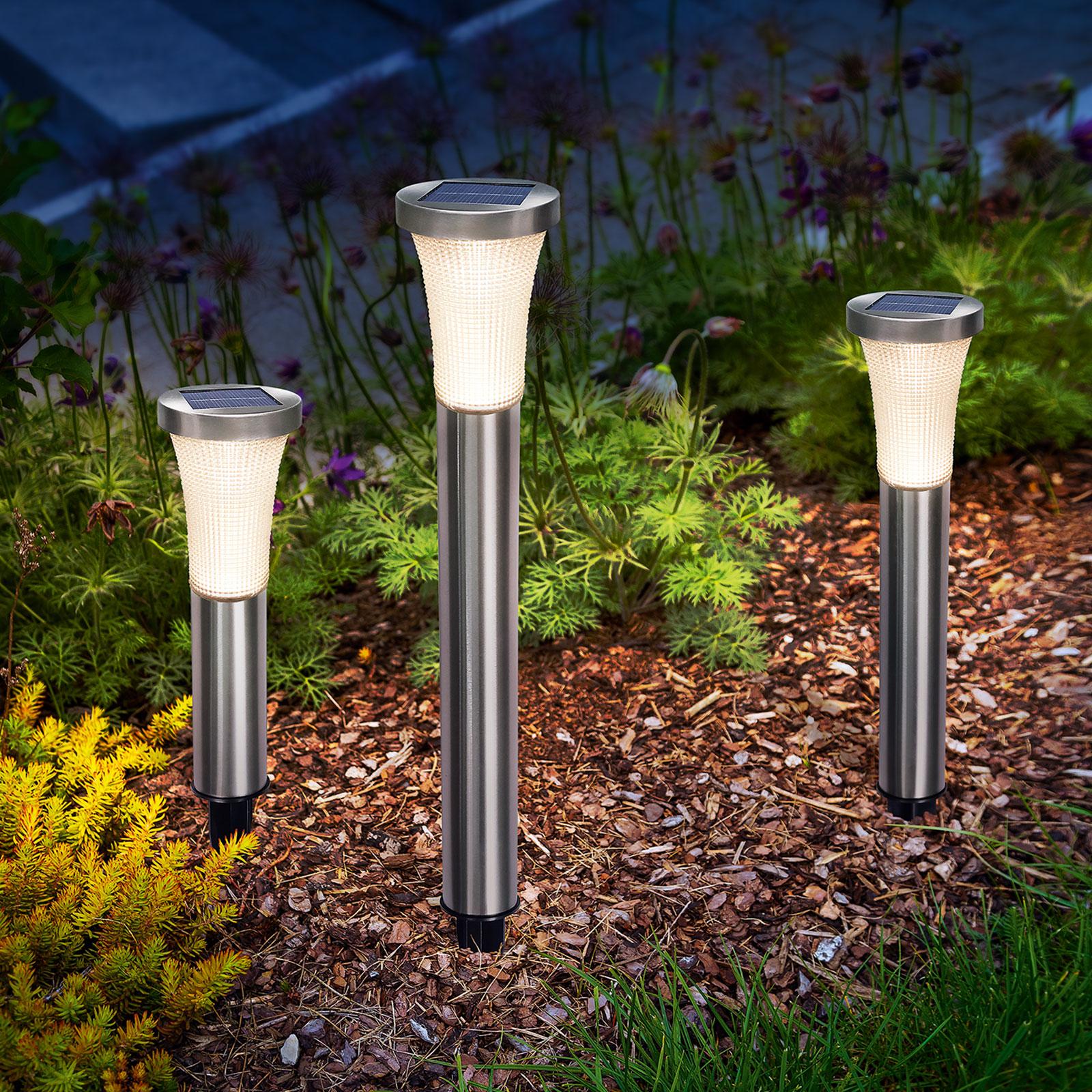 Padua LED-solcelle-lampe med jordspyd 3pk.