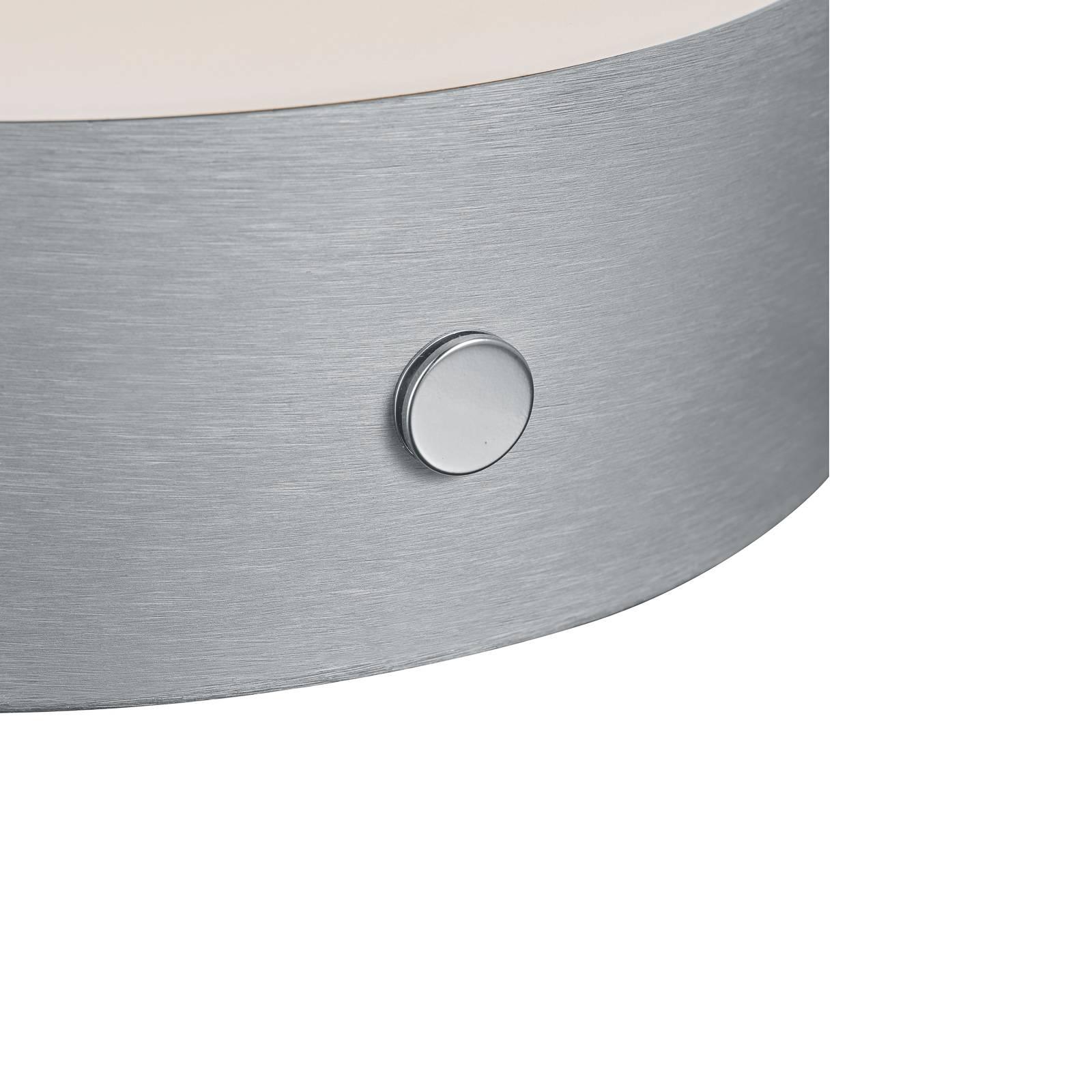 BANKAMP Button LED da tavolo alta 11cm alluminio