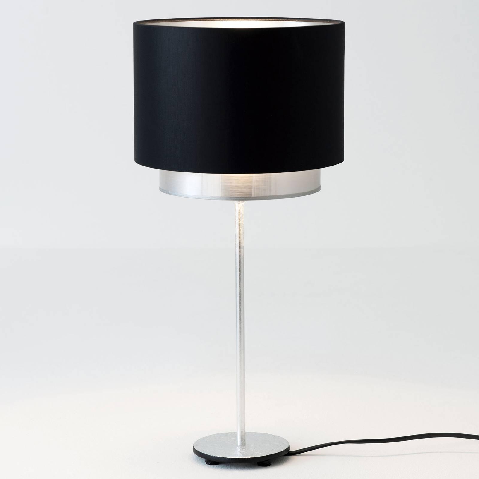 Tafellamp Mattia, sits zwart/zilver