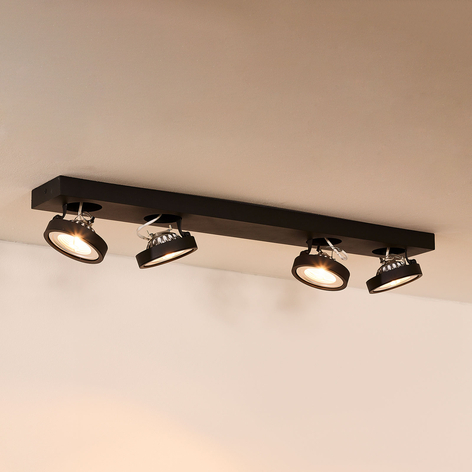 Plafonnier avec spots à quatre lampes Nenad, gris