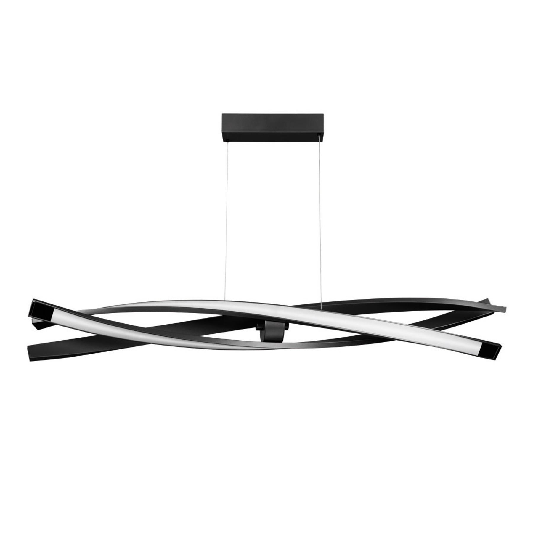 Suspension LED Sagitta, à 3 lampes, noire