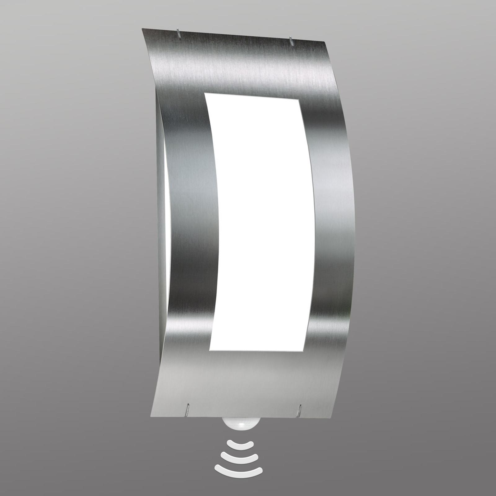 Venkovní nástěnné svítidlo Quadrat z nerezu senzor