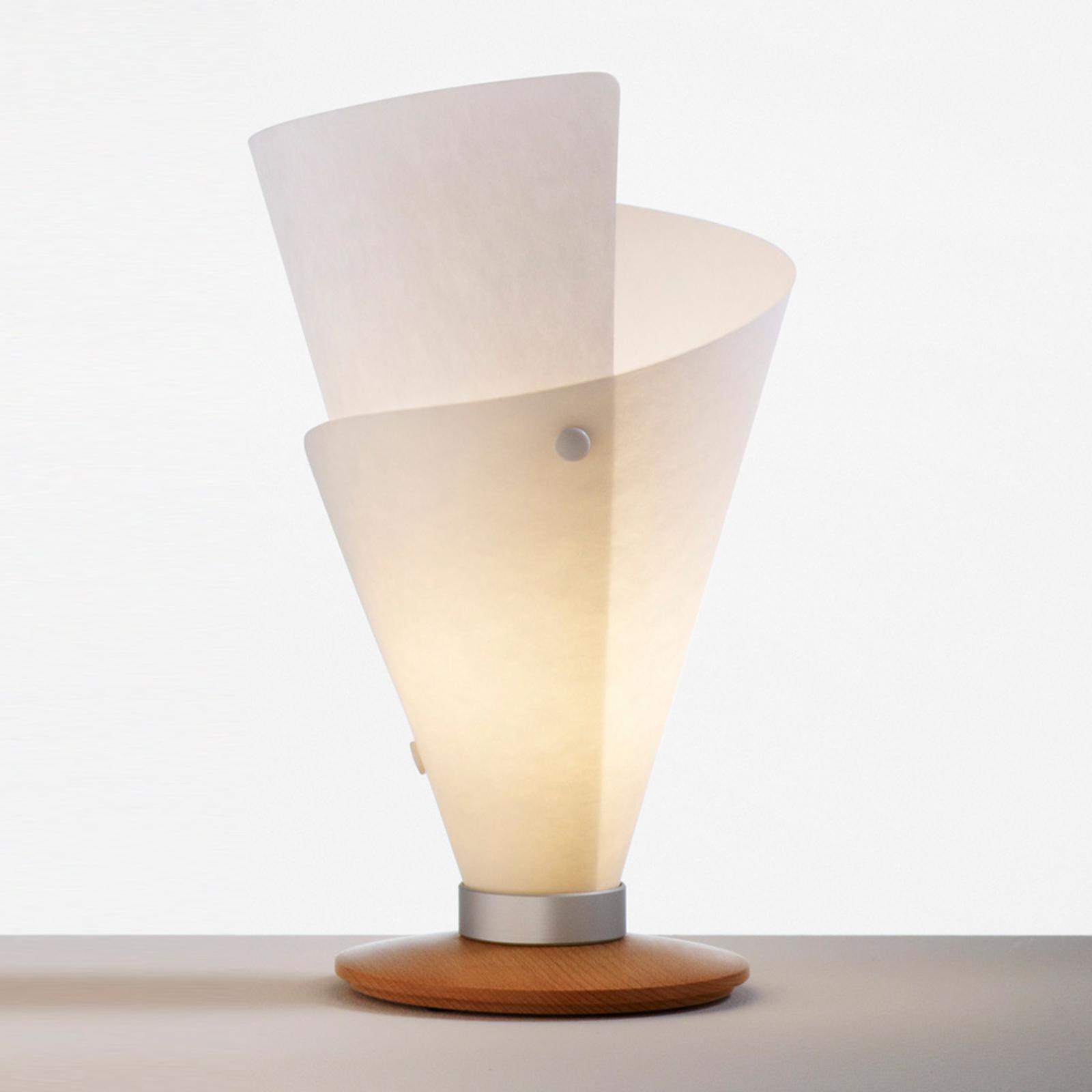 GARDE bordlampe, bøgetræ