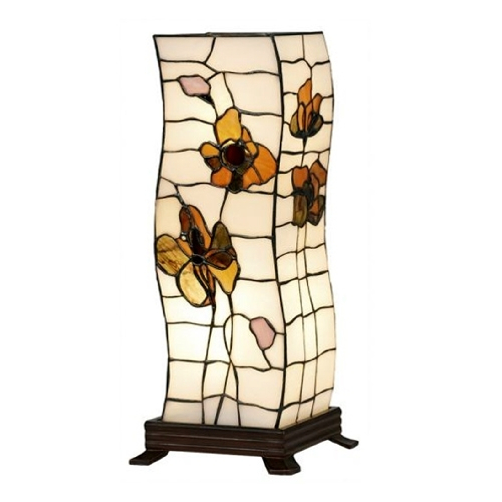 Bordslampa Blossom i tiffanystil