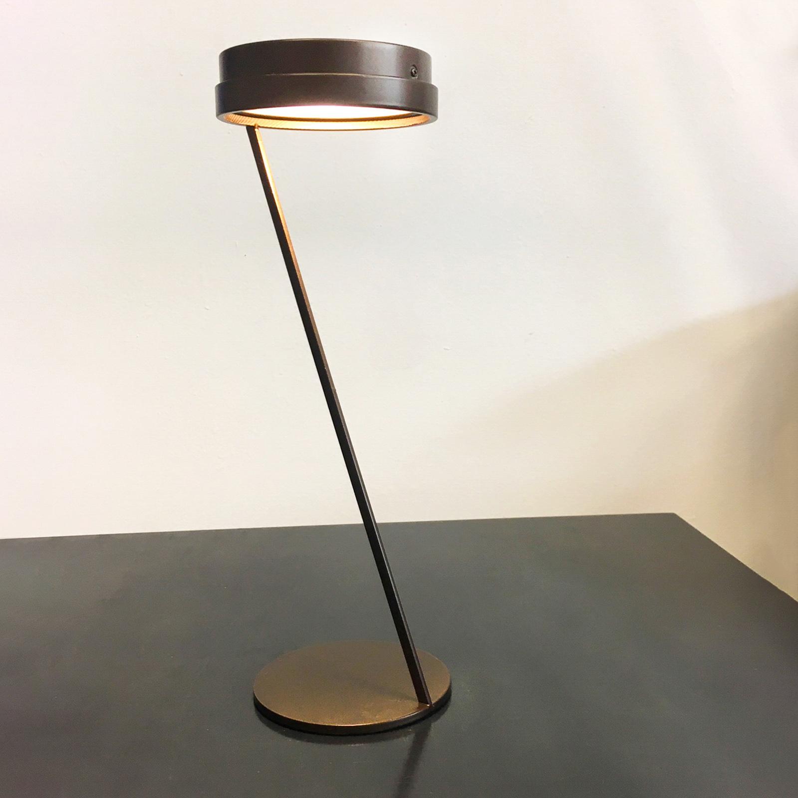Knikerboker Zeta LED-pöytälamppu tunnistin, coffee