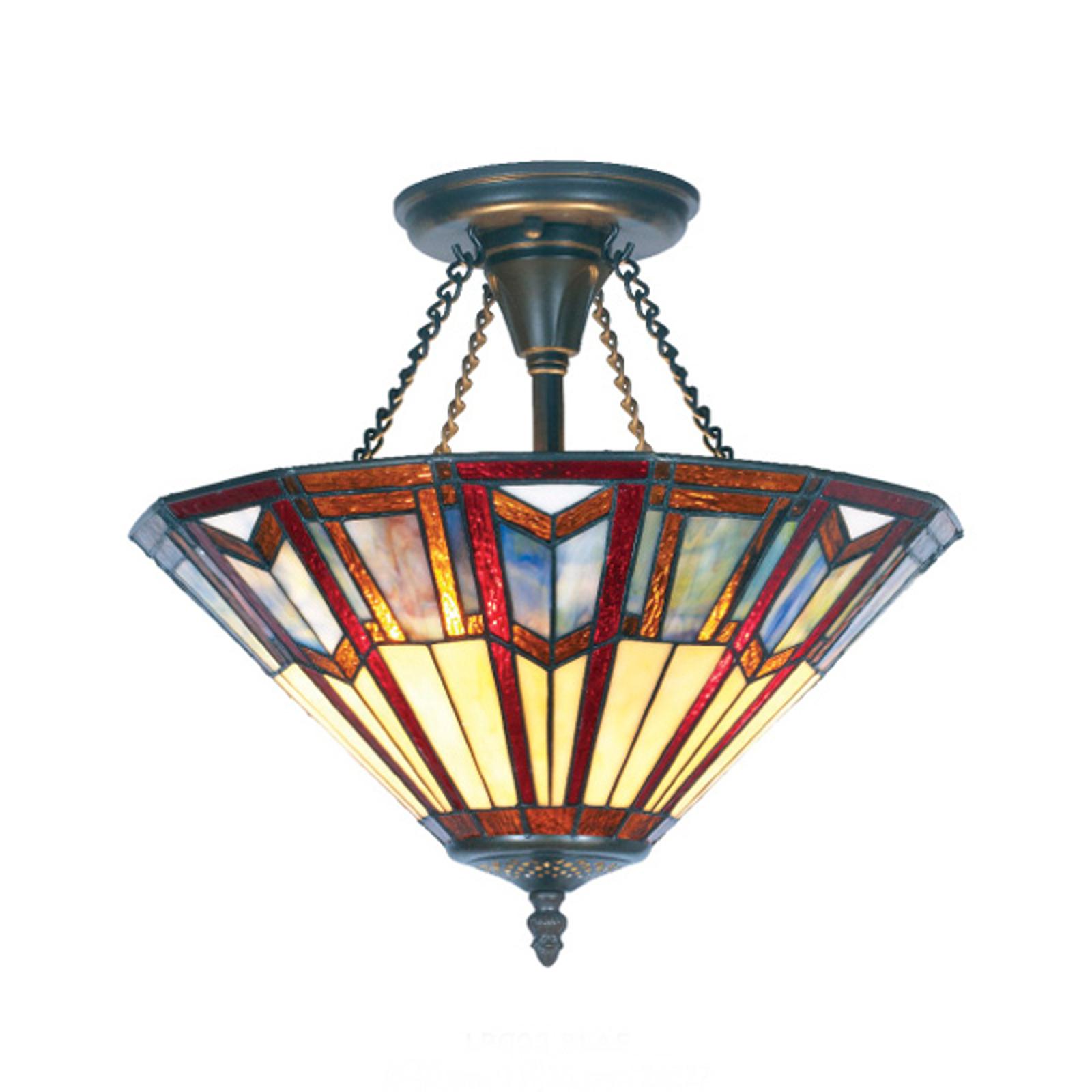 Stropní světlo Lillie v Tiffany stylu