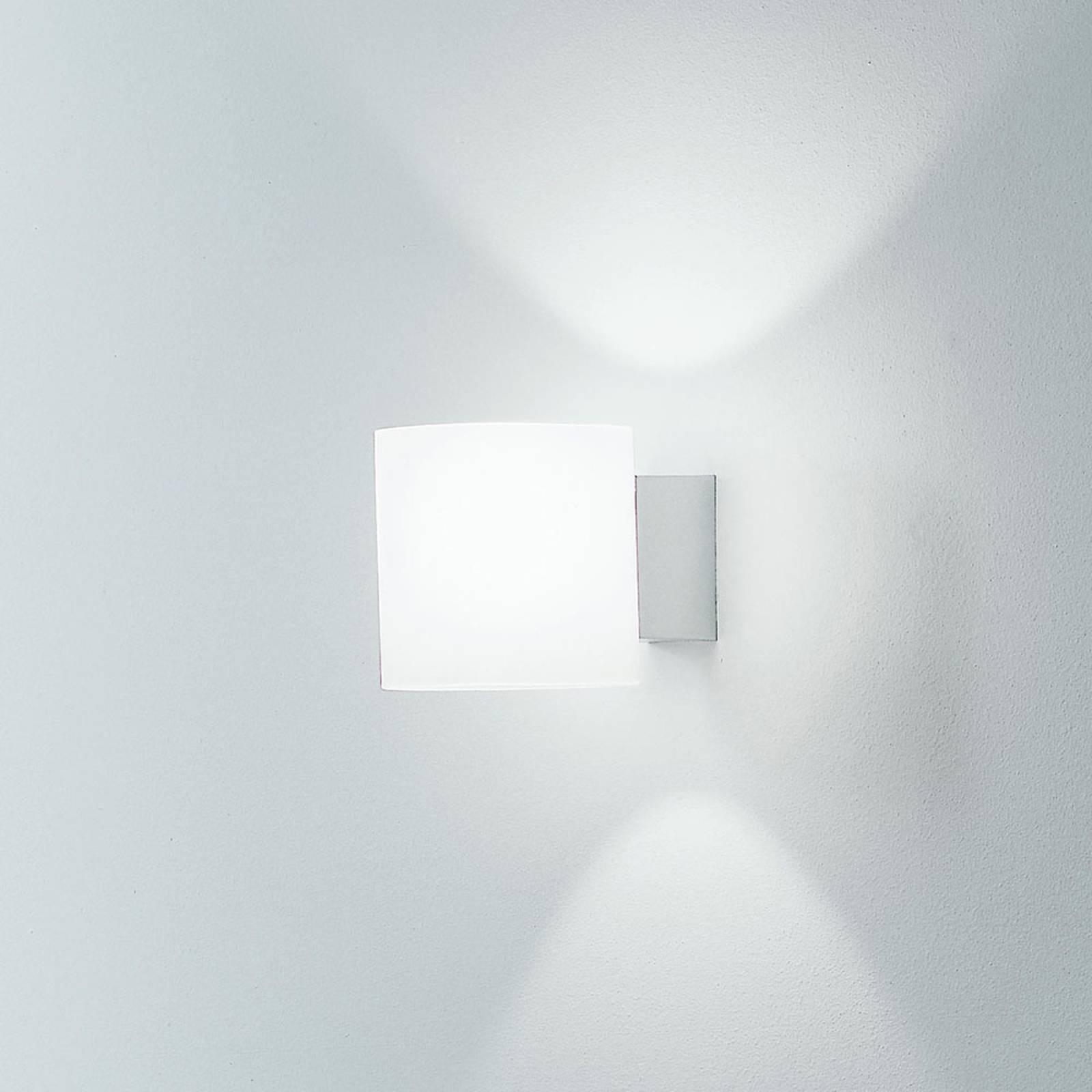 Martinelli Luce Tube wandlamp, glazen kap 10 cm