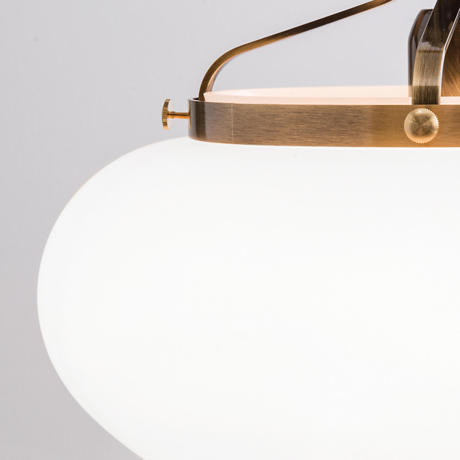 Hänglampa Delia i gammal mässing, 1 lampa