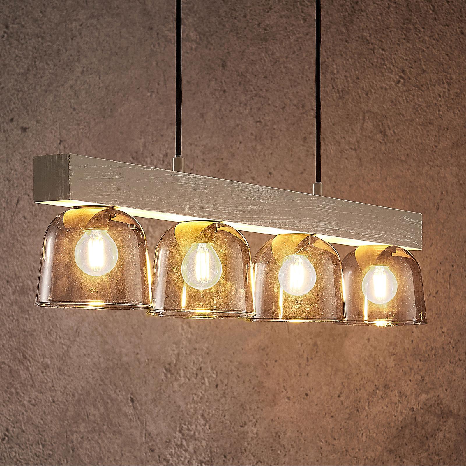 Lindby Watan lampa wisząca z szarymi szybkami