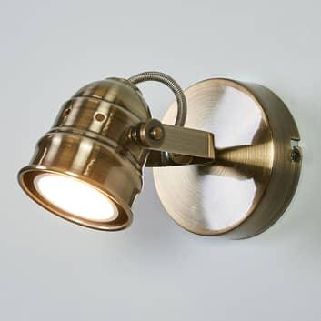 Applique LED Leonor, ottone anticato