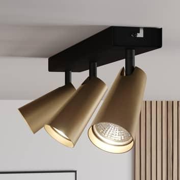 Lucande Angelina lámpara techo latón-oro 3 luces