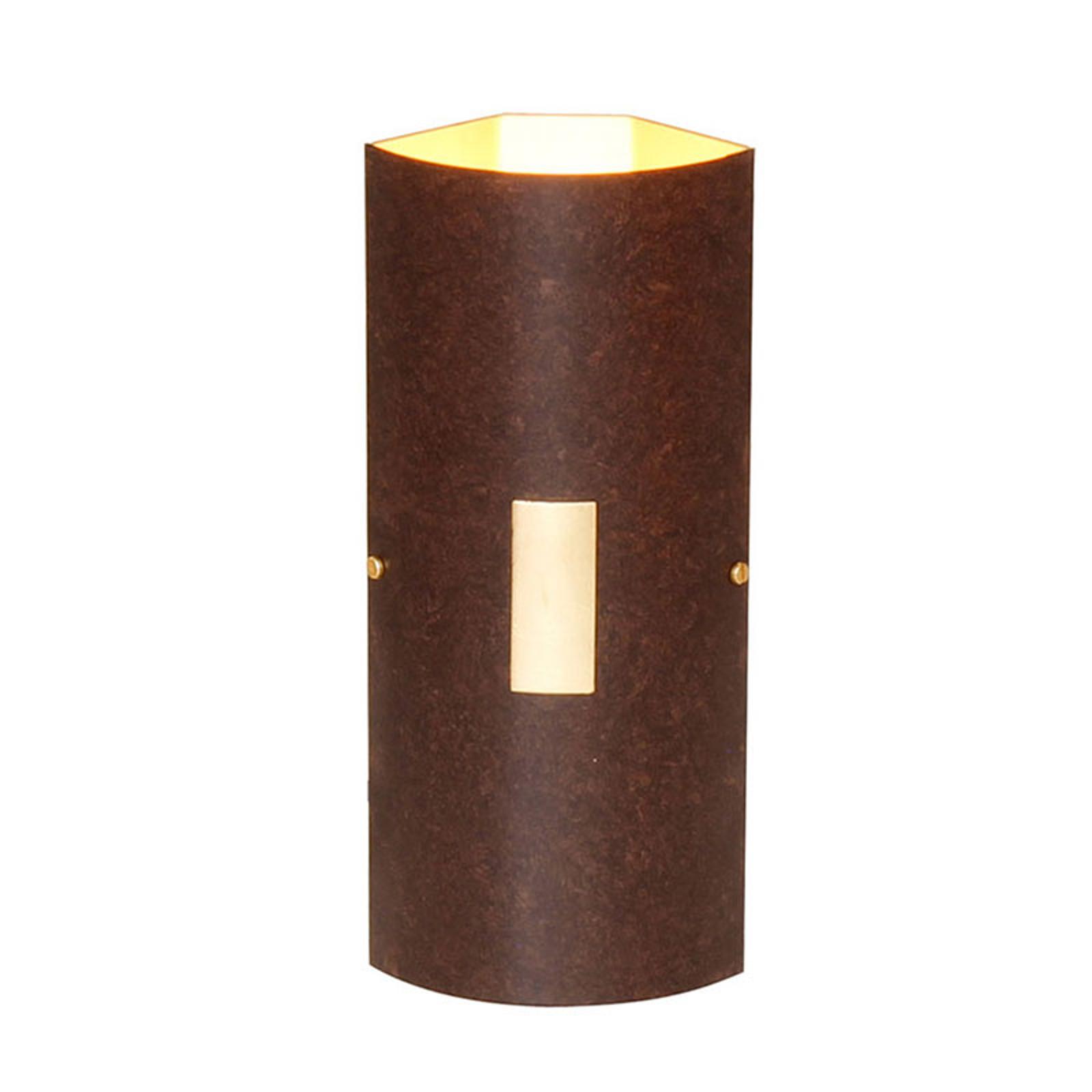 Menzel Solo applique angolare marrone-nero/oro