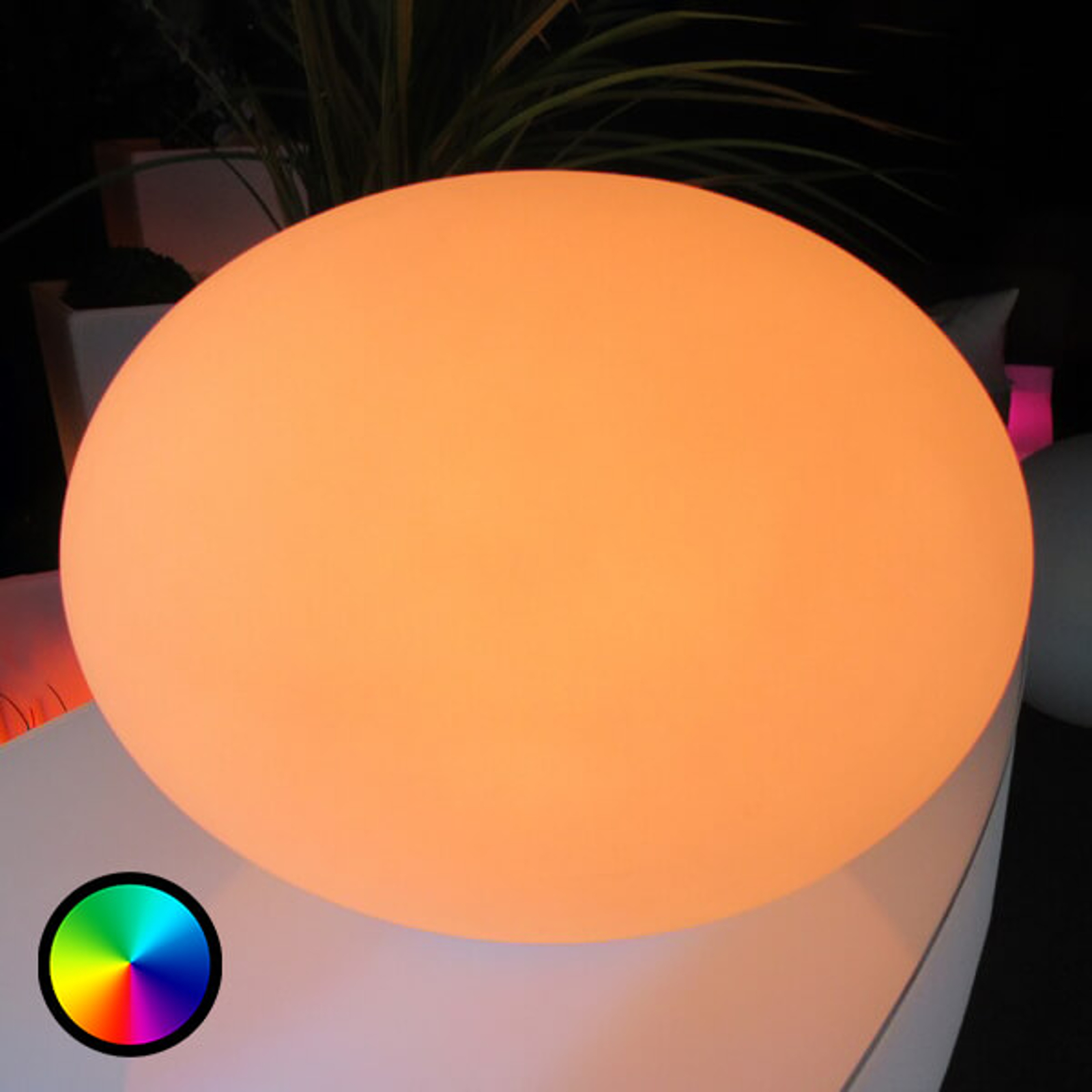 Ohjattava Flatball XXS -LED-koristevalaisin, IP68