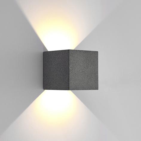 Lucande utendørs LED-vegglampe Naja, betong