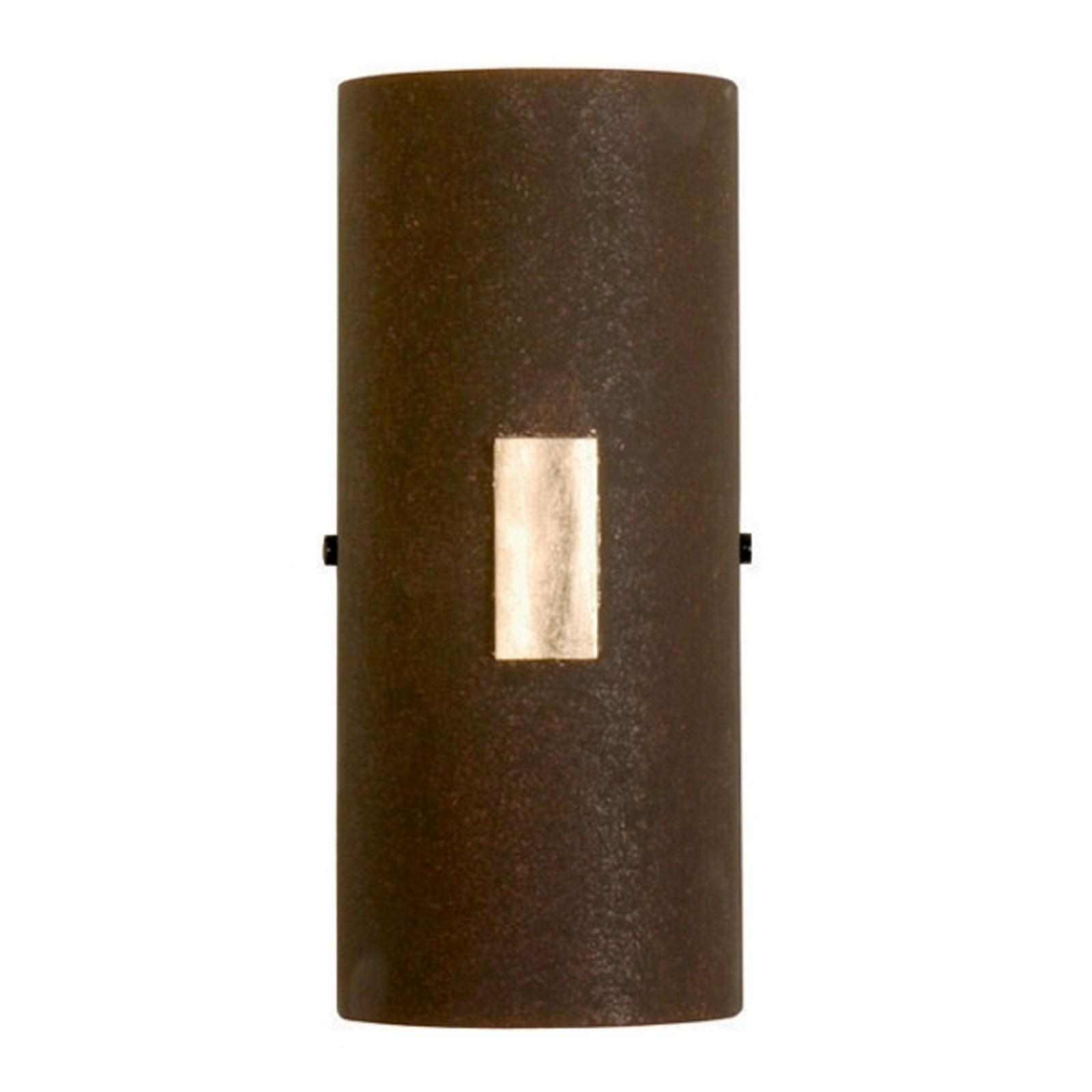 Vägglampan SOLO i rostbrunt med bladguld
