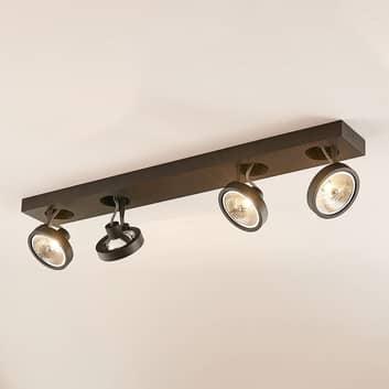 Arcchio Jorvin stropní světlo čtyřžárovkové, černé